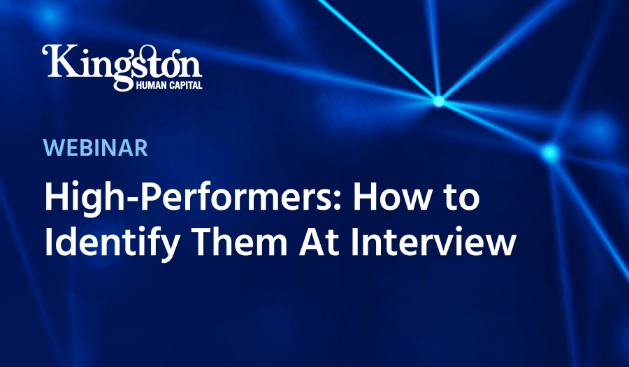 High-Performers Webinar Kingston Human Capital